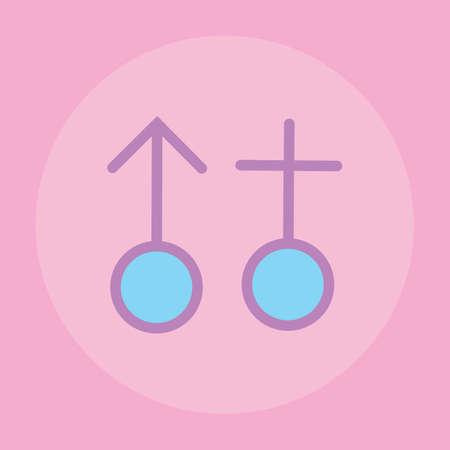 male symbol: male and female symbol
