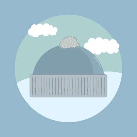 head wear: winter cap Illustration