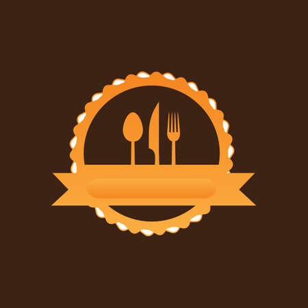 silverware: silverware label Illustration