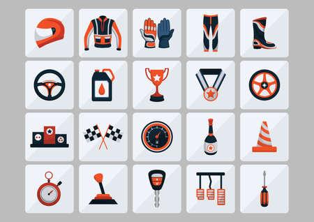 motor racing: motor racing icon Illustration