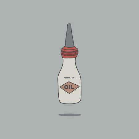 motor oil: motor oil can Illustration
