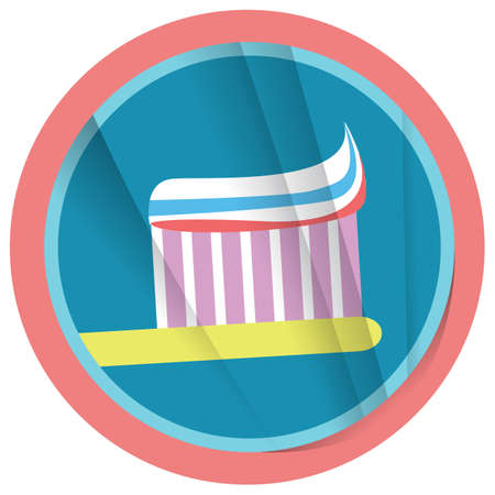 hygienic: toothbrush with toothpaste Illustration