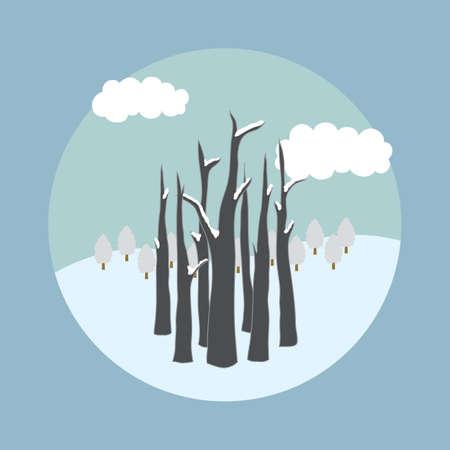 winter: winter trees