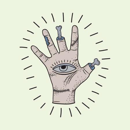 tattoo design: hand tattoo design Illustration