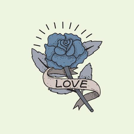 Conception de fleur de tatouage Banque d'images - 52861020