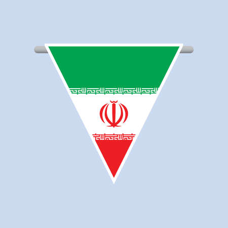 flag: iran flag Illustration