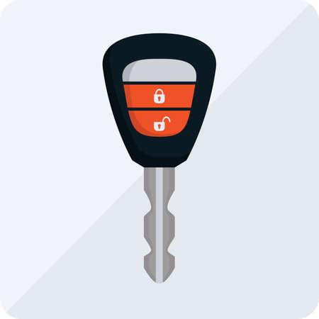 remote lock: remote key Illustration