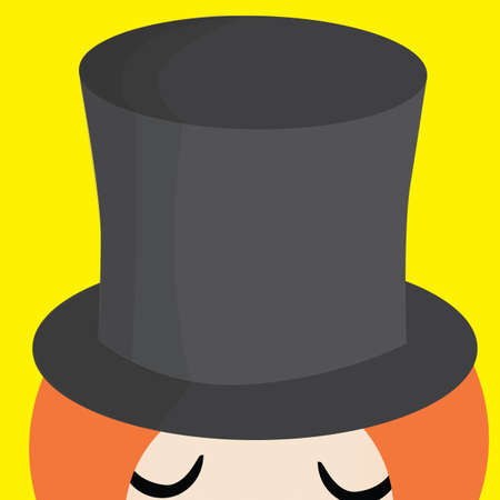 magician hat: girl with magician hat