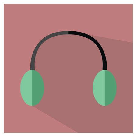 耳のマフ  イラスト・ベクター素材