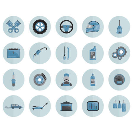 automobile parts Illustration