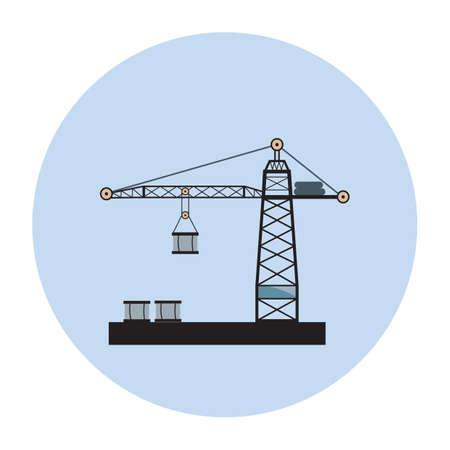 oil platform: oil platform Illustration