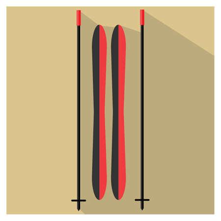 ' equipment: ski equipment Illustration