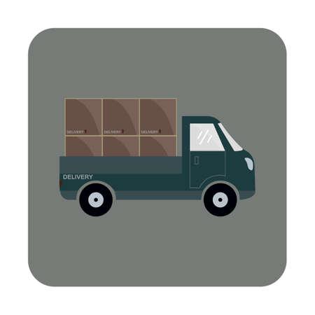 camion con scatole cartone