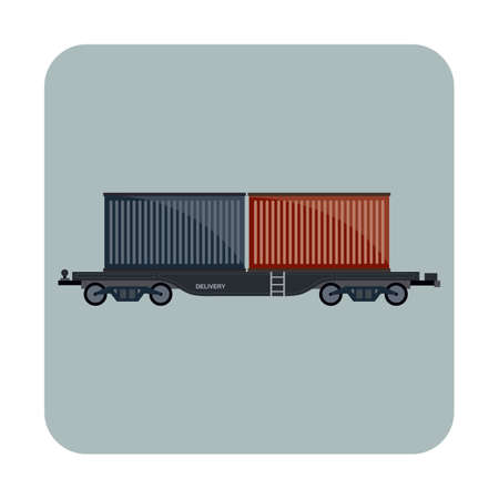 containers: freight containers Illustration