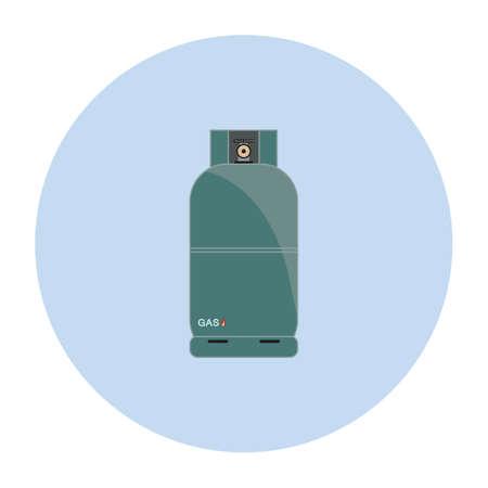gas cylinder: gas cylinder Illustration