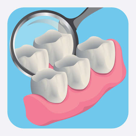surgical equipment: teeth with mirror