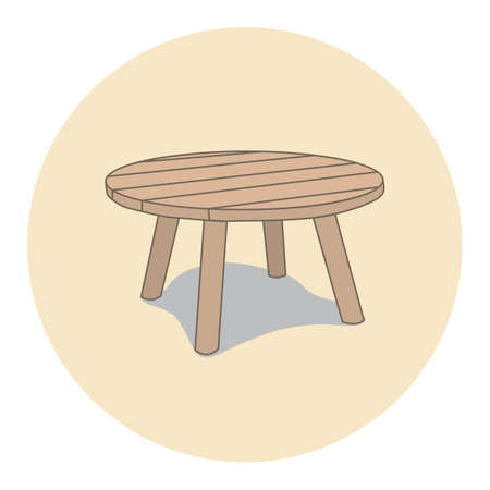 stool: low stool Illustration