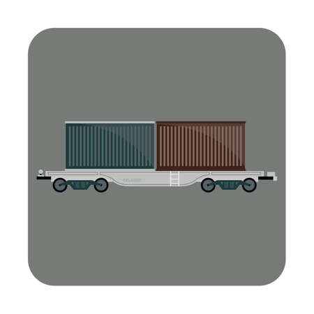 freight: freight containers Illustration
