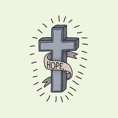 conception de tatouage croix