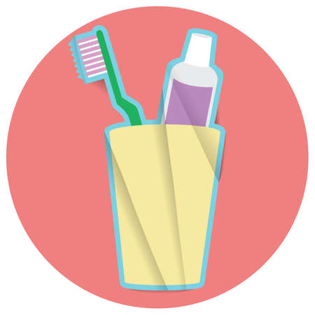 toothpaste: toothbrush with toothpaste Illustration