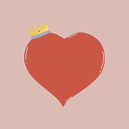 heart with crown: heart with crown