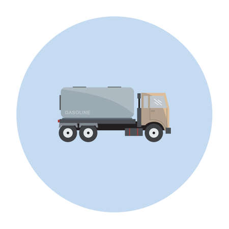 fuel storage tank: gasoline tanker truck Illustration