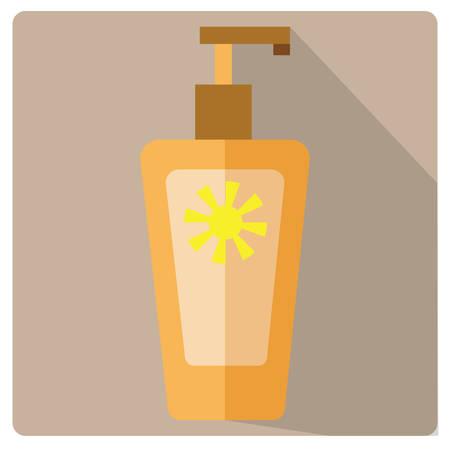 moisturizing: sun block Illustration