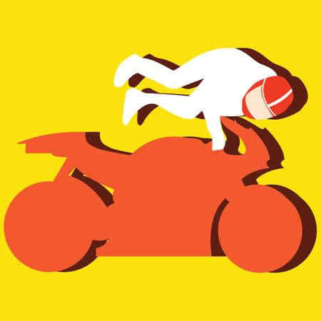 motorcyclist: motorcyclist performing stunts