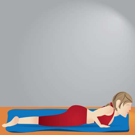 girl practising yoga in cobra pose