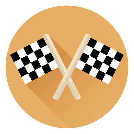 checker flag: race flags Illustration