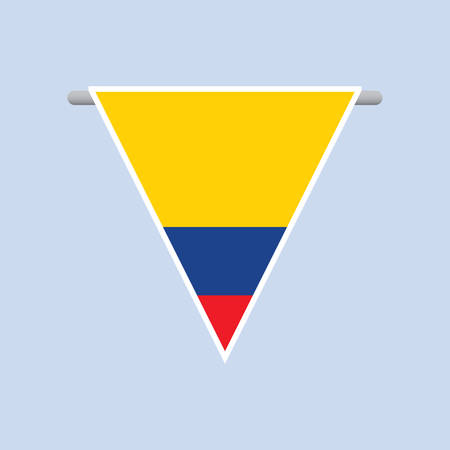 colombian: colombian flag Illustration