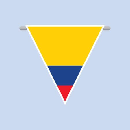 flag: colombian flag Illustration