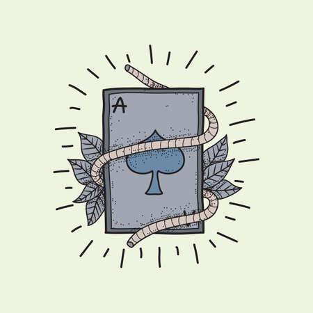 tattoo design: poker card tattoo design