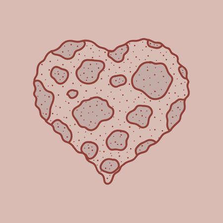 fungus: fungus heart Illustration