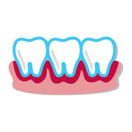 bleeding: bleeding teeth Illustration