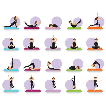 sequences: set of yoga icons