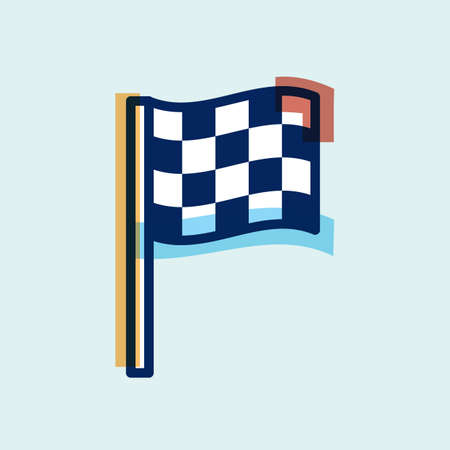 flag: racing flag Illustration