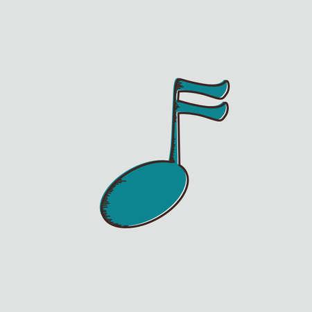 semiquaver: semiquaver music note