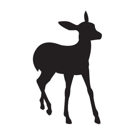 silhouet van herten Stock Illustratie