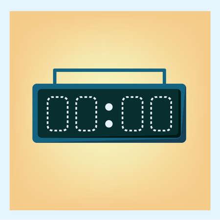 display: digital time display Illustration