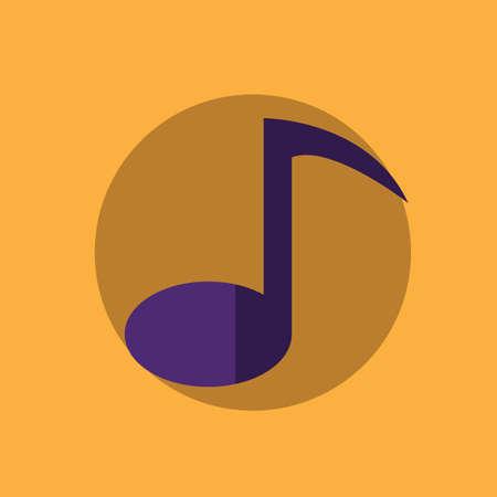 quaver: quaver music note Illustration