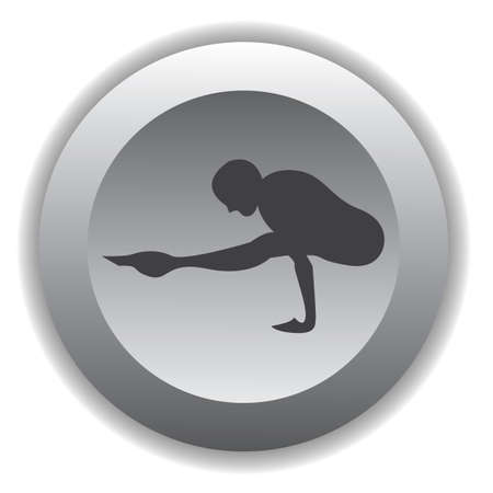 firefly: girl silhouette practising yoga in firefly pose