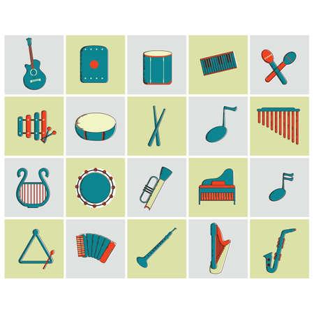semiquaver: music icons Illustration