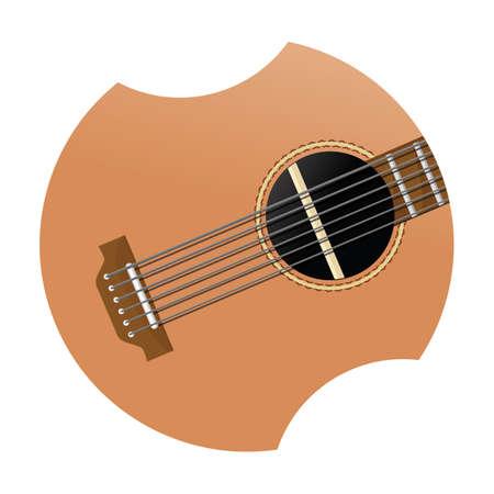 string instrument: acoustic guitar Illustration