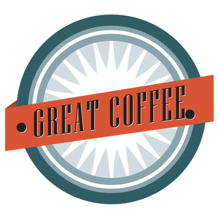 great coffee: great coffee label