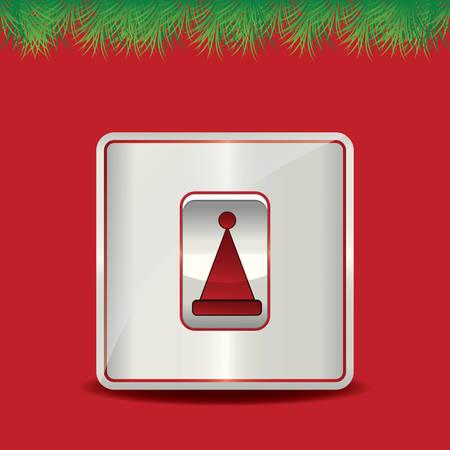 woollen: santa hat button