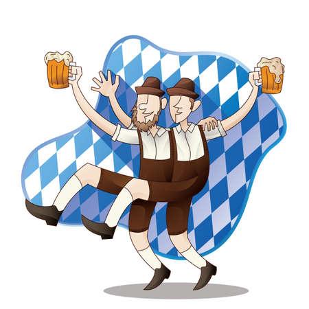 bavarian: bavarian men dancing