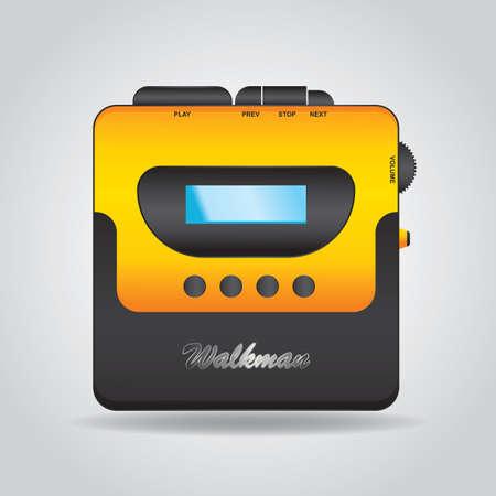 cassette tape: cassette tape player Illustration