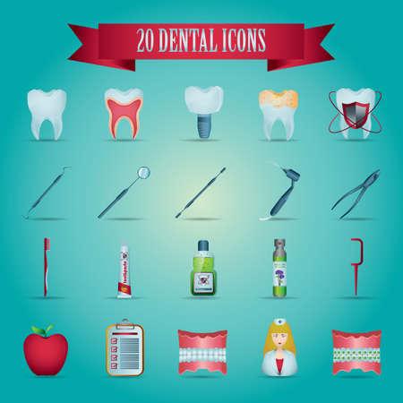 cavity braces: dental icons