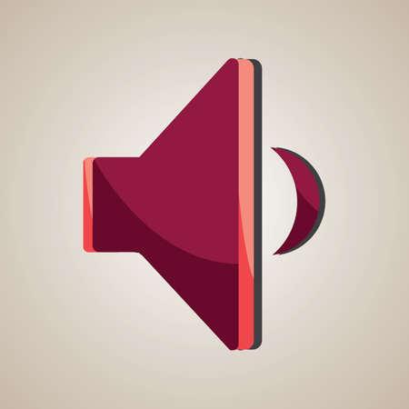 decrease: sound volume decrease Illustration
